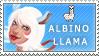 Albino llama Stamp by Atramina