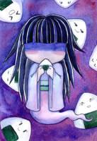 Ghost and onigiri by MonkeyDKiba