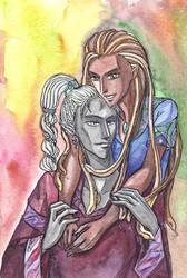Yannis and Rilonara by MonkeyDKiba