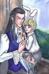 vampire and rabbit by MonkeyDKiba