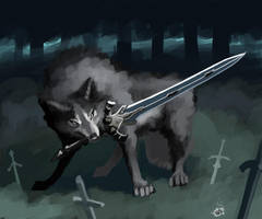 Great Grey Wolf Sif by ZerOlativity