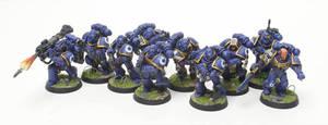 Ultramarines Alpha Company Tactical Marines by jstncloud