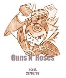 Rockman X: Guns n' rose by Schneller-werden