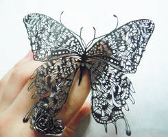 paper cutting:butterfly2 by masamisato
