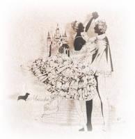 papercutting: ballet cinderella by masamisato