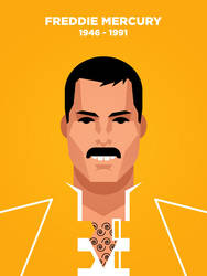 Freddie Mercury vector portrait by IlPizza