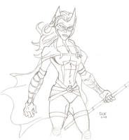 huntress pencils 10-12 by Glwills1126