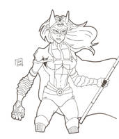 Huntress Inks 10-12 by Glwills1126