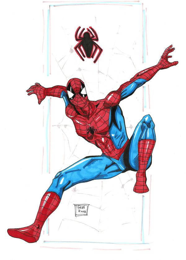 Spidey 11-17 marker sketch by Glwills1126