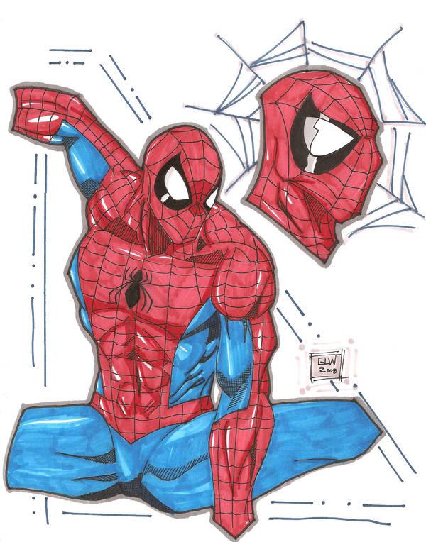 Spidey marker sketch 11-18 by Glwills1126