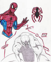 Spidey Marker Sketches 12-29 by Glwills1126