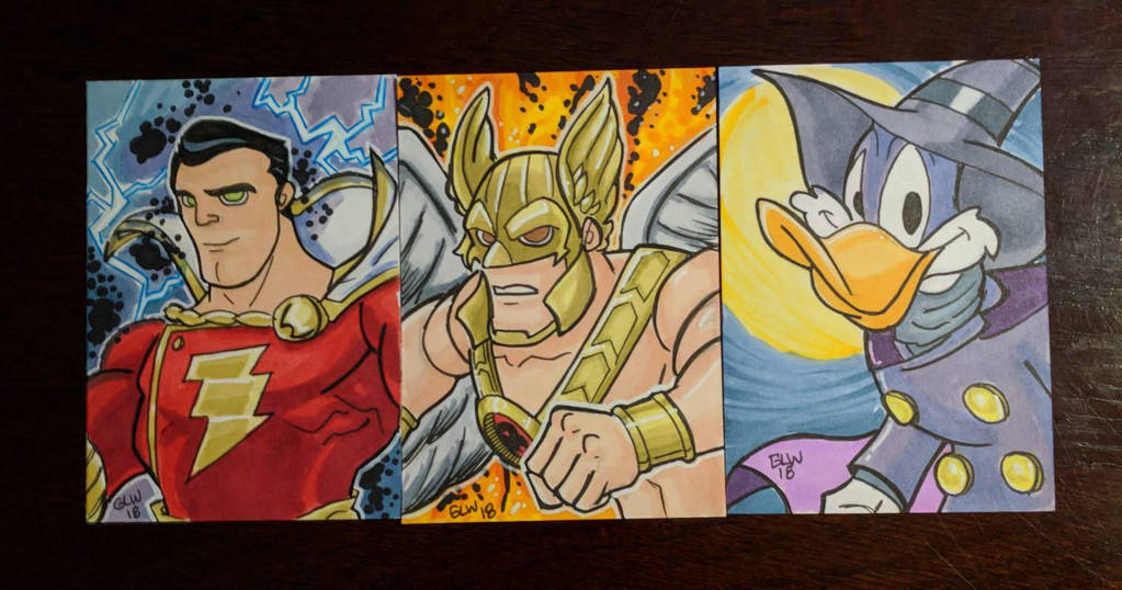 trio of sketchcards by Glwills1126