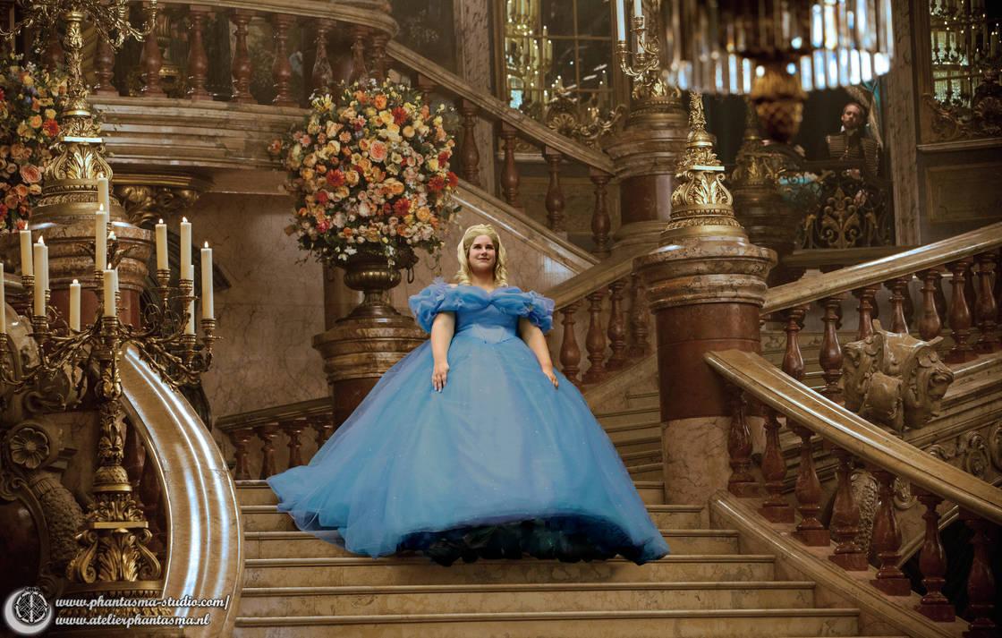 Cinderella live action gown  replica - Commission by Phantasma-Studio