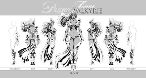GTSV Reboot Diana Flame Valkyrie Design by zzzcomics