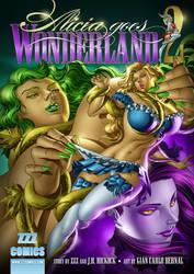 Alicia Goes Wonderland 2 Cover by zzzcomics