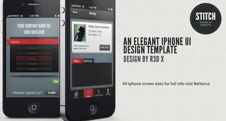 Stitch Iphone Ui Design by R3D-X7