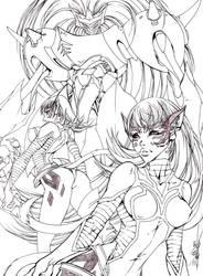 Escaflowne Nariya and Eriya by Meiphon