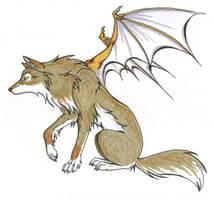 Brown Demon Wolf by CaptainMorwen