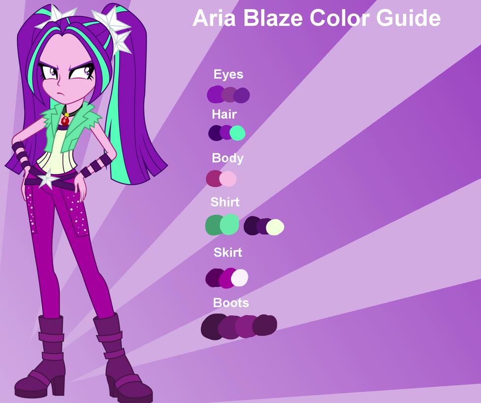 Aria Blaze Color Guide By Nightfang123 On Deviantart