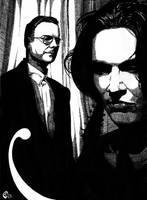 David Sylvian and Robert Fripp by SergiyKrykun