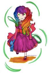 The Little Rainbow Sherbet Girl by melofarce