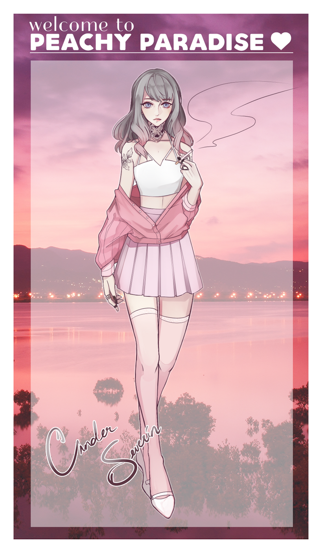 Peachy Paradise : Cinder by BlackBunii