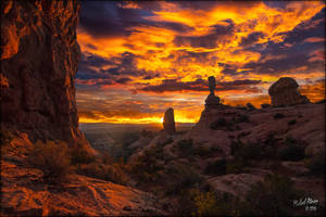Arches Sunset 811a by MichaelAtman