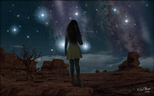 Star Gazing Girl by MichaelAtman