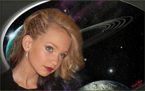 Anna in space by MichaelAtman