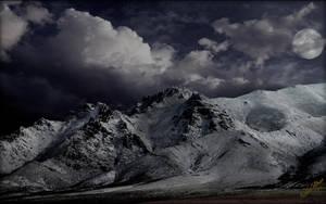 Winter Moon Mountain by MichaelAtman
