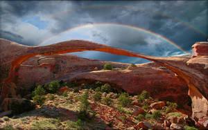 Landscape Arch Rainbow by MichaelAtman