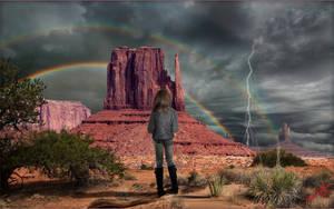 Monument Valley Storm 3 by MichaelAtman