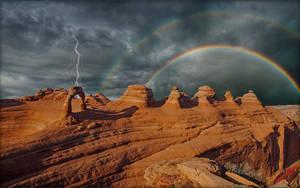 Delicate Arch Rainbow by MichaelAtman