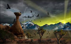 Desert Mountain Sunset 2 by MichaelAtman