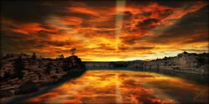 Cove Sunset Reflection by MichaelAtman