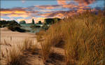 Dune beach sunset b by MichaelAtman