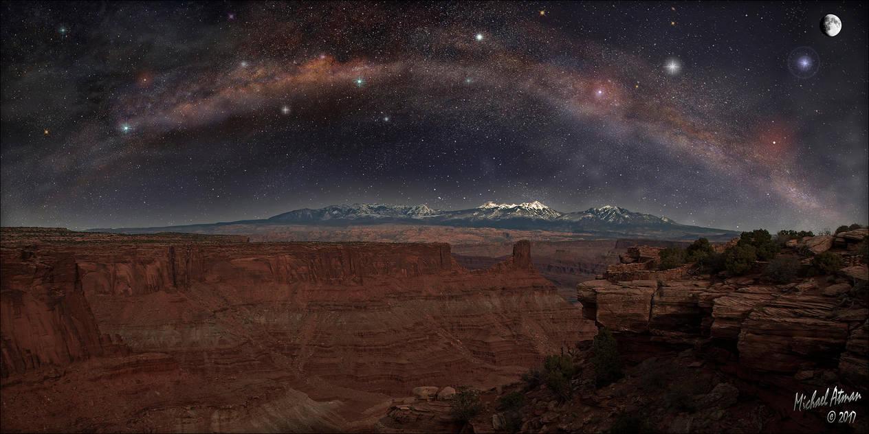 Canyonlands Milky Way Pano by MichaelAtman