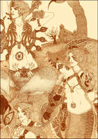 Naga, Skorpena and Arachne - Realistic Version. by Pedigri