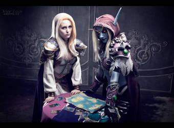 World of Warcraft - Lady Jaina and Sylvanas by ver1sa