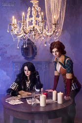Yennefer and Triss - Magic in the air by ver1sa