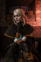 The Witcher - Cirilla in Tavern by ver1sa