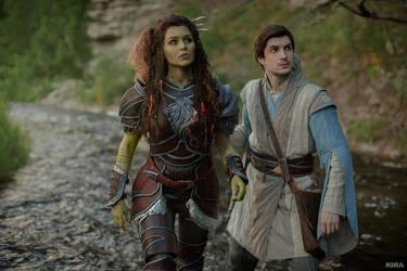 Warcraft movie - Khadgar and Garona by ver1sa