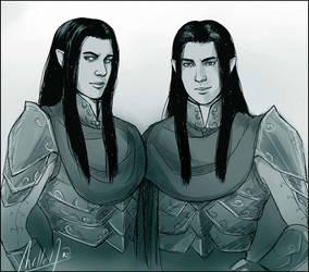 Elladan and Elrohir by MellorianJ