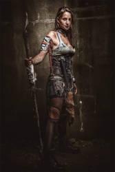 Postapocalyptic Woman by AestheticApocalypse