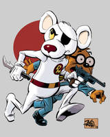 Danger Mouse and Penfold by RougeDK