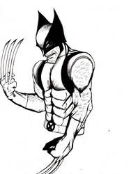 Wolverine bust ink by MUFC10