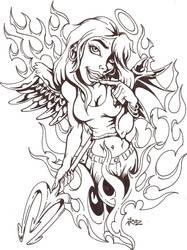 Devilish Angel by vicrosman