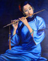 Girl With Flute by milbisous