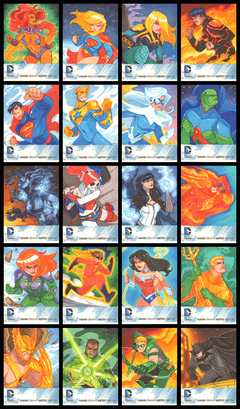 DC: The New 52 Sketchcards by CapnFlynn