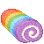Rainbow Swiss Roll 50x50 icon by RiverKpocc